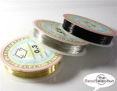 Copper Wire, Tiara Jewellery Making, Beading, Wrapping, 0.3mm-1mm Colour Choice