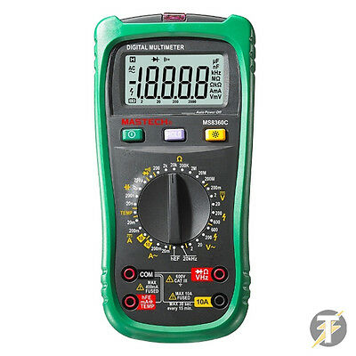MASTECH MS8360C Digital Multimeter AC DC 600V 10A With Temperature Tester