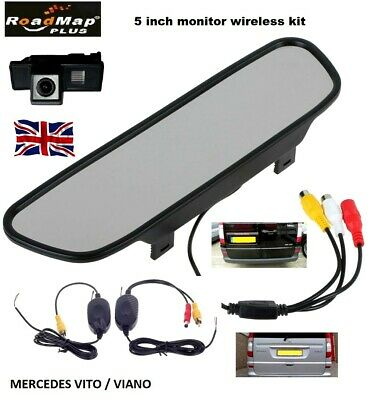 mercedes benz vito viano wireless 5 inch mirror rear reverse reversing camera