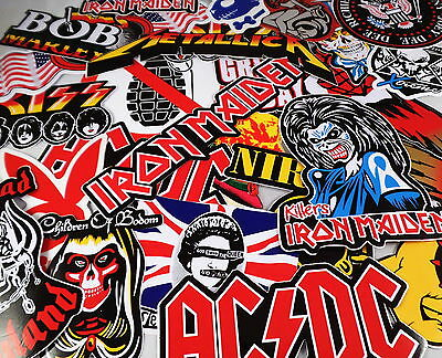 Job lot 10 large music band stickers decals rock metal punk guitar