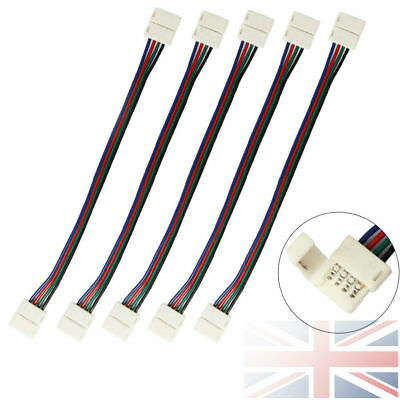 5050 Rgb Pcb 4 Pin Led Strip Light Connector 10 Mm Wide Joiner Adapter Cable Uk