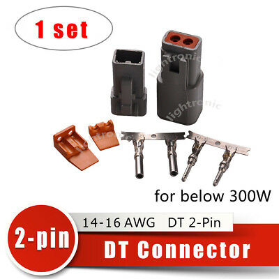 1 set Deutsch DT 2-Pin Solid Connector Kit 14-16 AWG High Quality