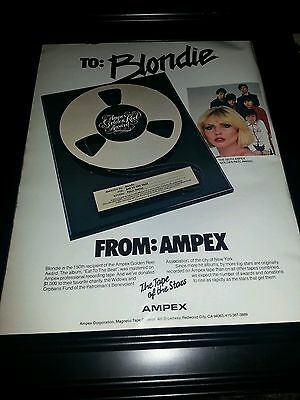 Blondie Eat To The Beat Ampex Rare Original Promo Poster Ad Framed!