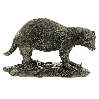 Juliana Bronze Effect Finish Wildlife Collectable Figurine ~ Badger 58415