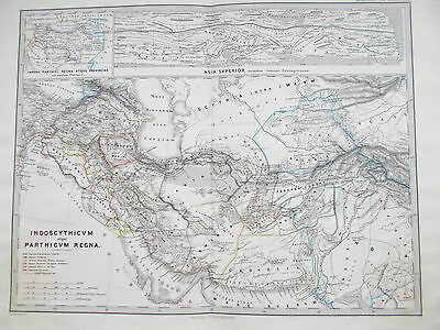 Map of Ancient Persia. 1865. Perthes. Original. IRAN. MIDDLE EAST