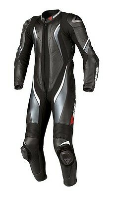 Dainese Aspide 1 One Piece Leather Motorcycle Motorbike Suit Black Anthracite