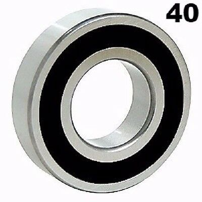 Fourty (40) 6203-2RS Sealed Bearings 17x40x12 Ball Bearing / Pre-Lubricated