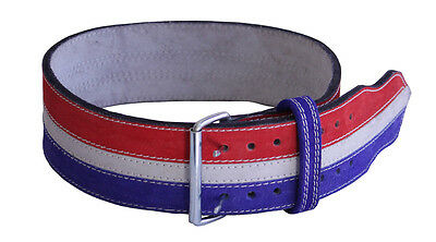 "Ader Power Weight Lifting Belt- 4"" (Red/White/Blue)"