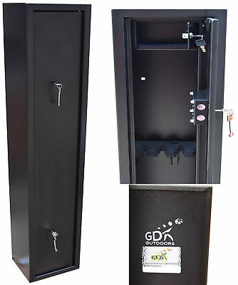 Paint Damaged 4 Gun Cabinet With Inner Ammo Safe, For Shotguns, Rifles, Gun Safe