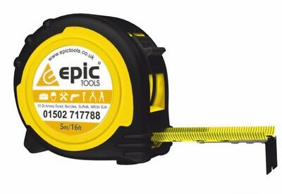 EPIC TOOLS Advent 5m/16ft Metric/Imperial ABS Class II Tape Measure With Clip