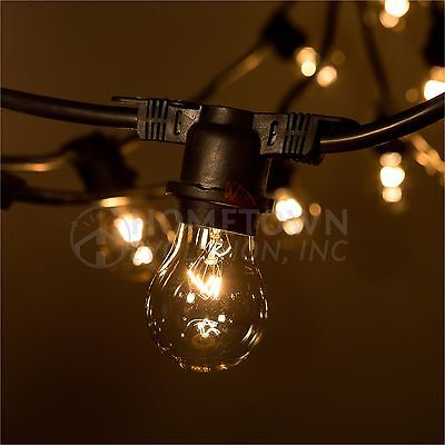 A15 Clear E26 14 Gauge Commercial String Lights (100', 50' and 24' Lengths)