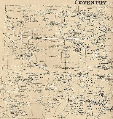 Coventry Washington Anthony Quidnick RI 1870 Maps with Homeowners Names Shown