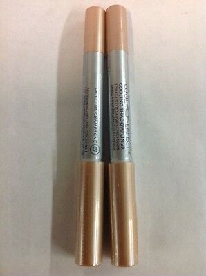 2 X Maybelline Cool Effect Eye Shadow/Liner  CHILL THE CHAMPAGNE #27 SEALED.