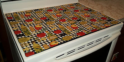 Italian Kitchen Themed Glass Stove top / Cook top Cover & Protector