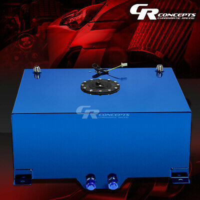 20 Gallon Blue Coated Aluminum Racing/drifting Fuel Cell Gas Tank+Level Sender