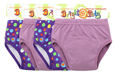 Bright Bots Potty Training Washable Pull Up Trainer Pants 4 pk Medium Girl - PUL
