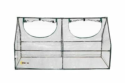 oGrow OG7036-M Deluxe Compact Outdoor Seed Starter Greenhouse Cloche