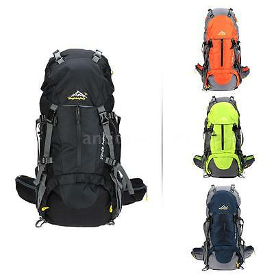 50L Outdoor Camping Mountain Hiking Backpack Rucksack Bag Travel Sport