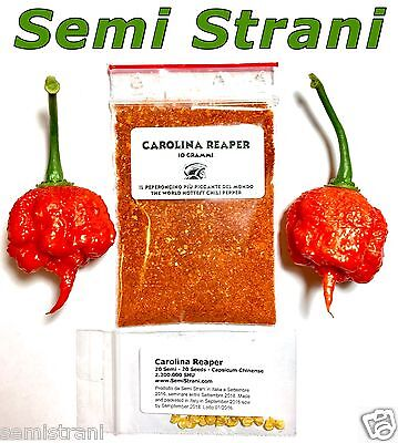 CAROLINA REAPER WORLDS HOTTEST CHILI POWDER: 10 GRAMS + 20 SEEDS Prod. 2017