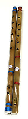 """Professional Indian Bamboo Flute Concert Scale EE 21.8"""" inch Fipple & Transverse"""