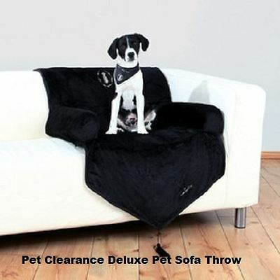 Dog Bed Sofa Throw Arm Chair Style Deluxe Pet Beds Black