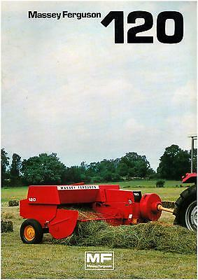 Brochure Leaflet Tracteur Tractor Massey Ferguson MF 120 8 pages