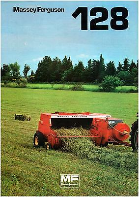 Brochure Leaflet Tracteur Tractor Massey Ferguson MF 128 4 pages