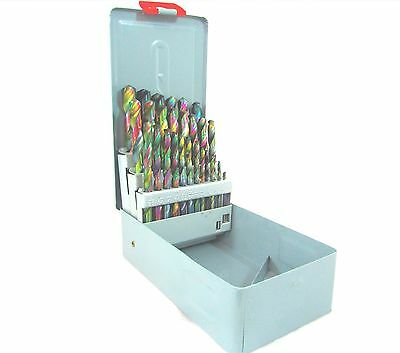 29pc Cobalt Coated HHS High Speed Drill Bit Set With 118 Degree Points