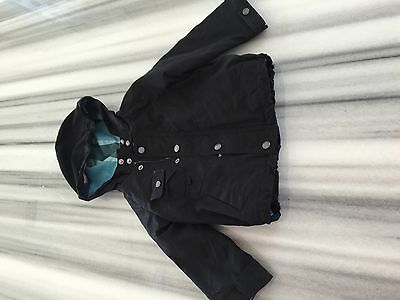 Burberry jacket. 18Months boys. Black. Zip-out quilted warmer. 100% cotton