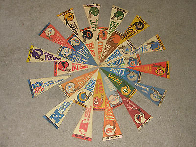 RARE Dr. Pepper Vintage Late 1970's NFL 4X9  Mini Pennants Flags: Pick Your Team