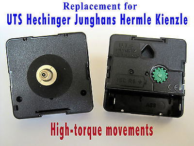 Quartz HIGH-TORQUE mechanism movement, UTS, Hechinger, Junghans, Hermle, Kienzle