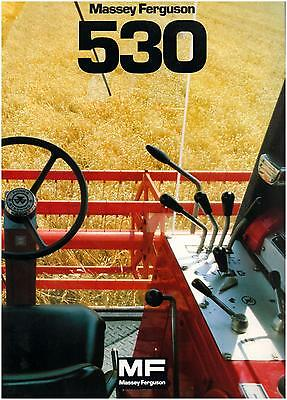Brochure Leaflet Tracteur Tractor Massey Ferguson MF 530 16 pages (b)