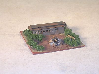 Z Scale Railroad Hobo Camp with Rusted Out Old Time Passenger Car.