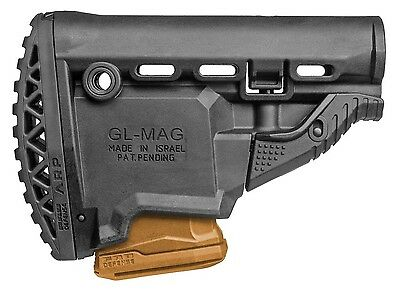GLMAG ARP-S FAB Defense Black Butt Stock with MagazineCarrier IDF