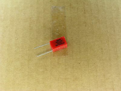 2 Pc Lot 1 /% radial polystyrene capacitor S00774-176 5490 pf 100 volt 100V