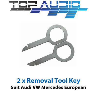 Car RADIO REMOVAL KEYS Tool stereo pin 2pcs dash repair Kit panel ~ VW Audi