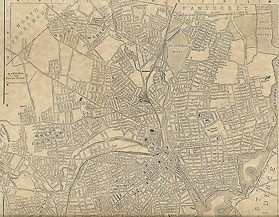 Providence RI 1904  Detailed Street Map with Bonus 1899 and 1910 maps