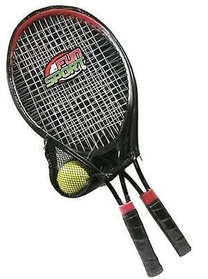 Fun Sport Twin Tennis Racket and Ball Set - Carry Case