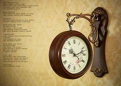 Antique Style Double Sided Interior Wall Clock Double Faced Vintage Home Deco