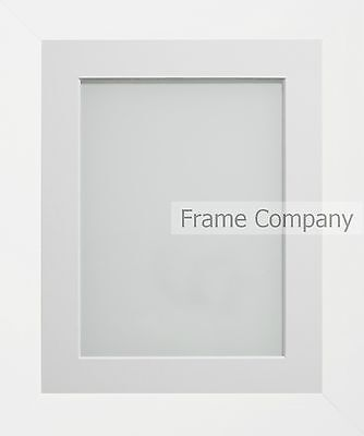Frame Company Candy Range White Picture Photo Frames with Choice of Mounts