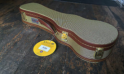 Kinsman Deluxe Tweed  Soprano Ukulele Uke Hard Case With Key RRP £42.99