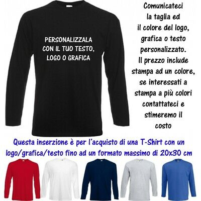 T-Shirt Personalizzata 20x30 Uomo Valueweight Cotone Fruit of the Loom Man MS10