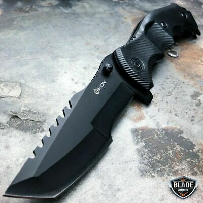 TACTICAL Spring Assisted Open Pocket Knife CLEAVER RAZOR FOLDING Blade Damascus