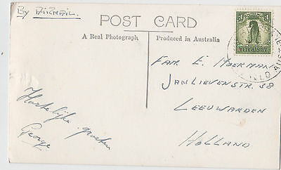 Postcard of Victoria & Grey Street Bridge Brisbane Queensland 1/- Lyrebird stamp