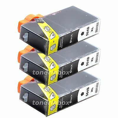 3Pk Generic Ink Cartridge For HP 564XL Black PhotoSmart 7510 7520 5510 5520 6510