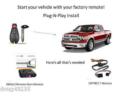 Plug-N-Play DBALL2 & THCHD1 T-Harness Remote Starter for Chrysler / Dodge / Jeep