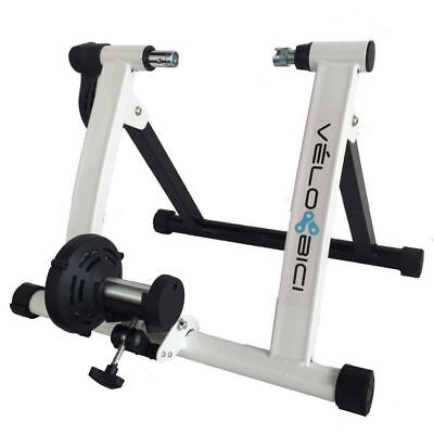 Home Bike Trainer With Quick Release and Riser Block Mag By Velobici
