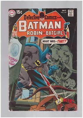 Detective Comics # 401  What was...That ?  grade 3.5 scarce book !