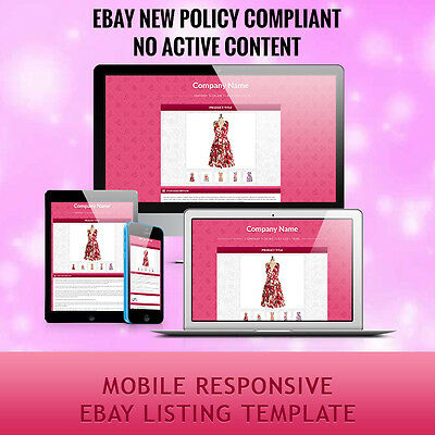 Mobile Responsive Professional eBay Auction Listing Template HTML for Fashion