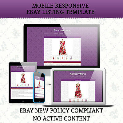 Mobile Responsive eBay Auction Listing Template HTML for Cloth
